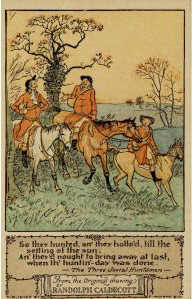So they hunted an' they hollo'd, by Randolph Caldecott (postcard B4)